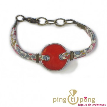 Bracelet de la créatrice céramiste Christine ALLOING