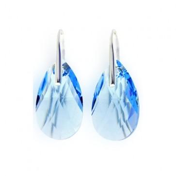 Boucles d'oreilles goutte de SPARK en argent et cristal de Swarovski bleu