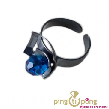 Bague Ostrowski BLACKPEARL