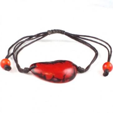 Green-Age - Bracelet brillant en noix de tagua orange -Pingtipong bijoux