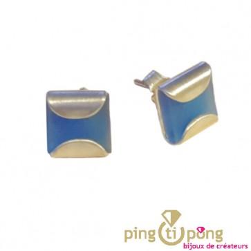 Boucles en argent et silicone 8 couleurs