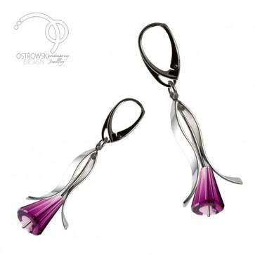 boucles d'oreilles lily small argent et swarovski de Ostrowski Design