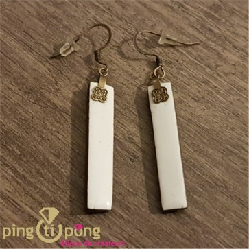 Boucles rectangles blanc ALLOING