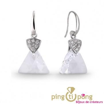 Boucles pendantes SPARK diamant