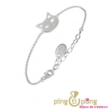 "Bracelet ""chat"" en argent massif 925 CANYON"