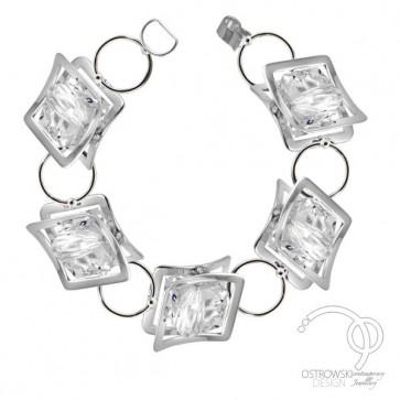 bracelet en argent et cristal de Swarovski blanc diamant de la collection X-PLAY Ostrowski Design