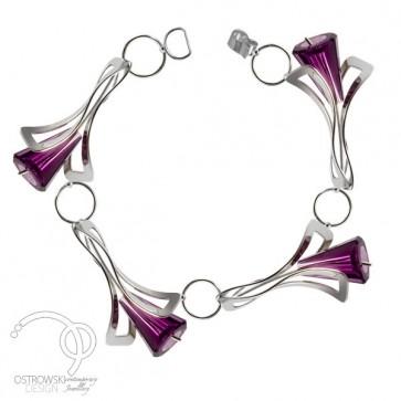 bracelet original en argent de Ostrowski Design forme fleurs LILY