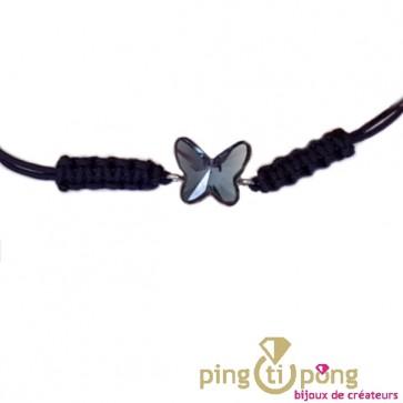 Bracelet papillon bleu en cristal de SPARK
