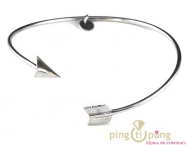 bracelet en argent de l'avare bijoux forme flèche