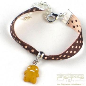 Bracelet bijoux gourmands bonhomme pain d'épice