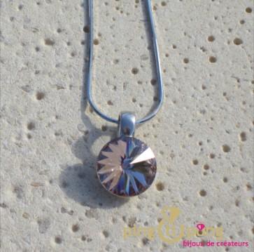 Collier en argent et pendentif en cristal de Swarovski Spark
