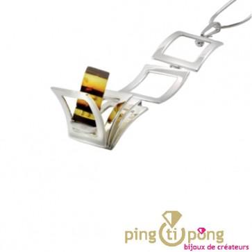 Collier en argent et ambre OSTROWSKI Design