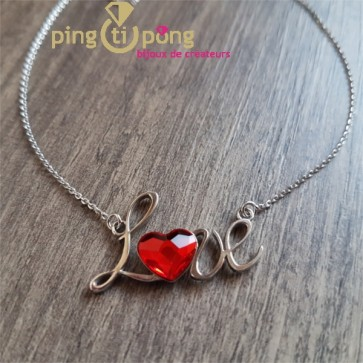 Collier SPARK love rouge