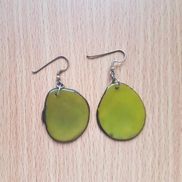 Boucles en tagua vert GREEN AGE