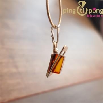 Collier carre ambre OSTROWSKI