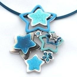 collier etoiles bleues