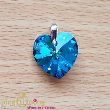 Pendentif coeur bleu SPARK