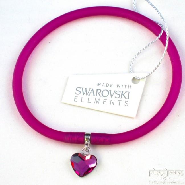 Bijoux Argent Swarovski : Bijoux coeur en swarovski