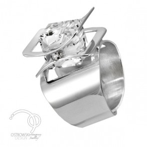 bague originale en argent et swarovski de Ostrowski design collection X-PLAY