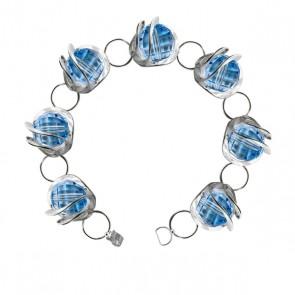 Bracelet Ostrowski Design Galaxie en argent et Swarovski