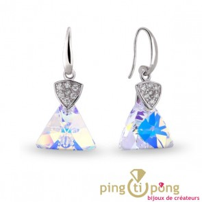 Boucles Spark triangle Swarovski