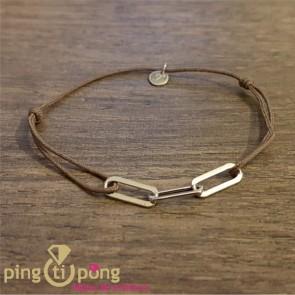 Bracelet taupe 3 anneaux de L'avare
