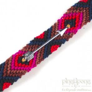 Bracelet brésilien argent homme et femme rouge rose marron bleu - L'AVARE bijoux