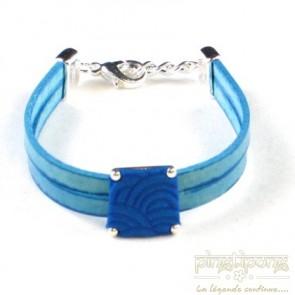 Bracelet Pastacuita trapèze bleu