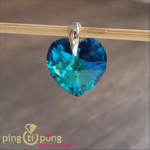 Pendentif coeur bleu topaze de SPARK