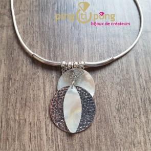 Collier nacre et métal de La Petite Sardine