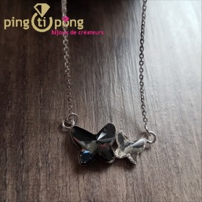 Collier papillons SPARK