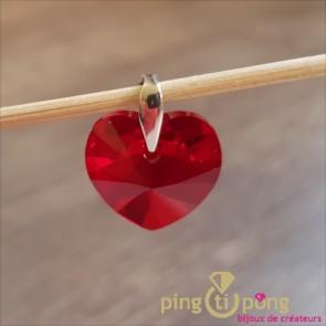 Pendentif coeur rouge SPARK