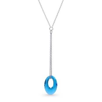 collier Swarovski et argent en forme d'anneau de SPARK