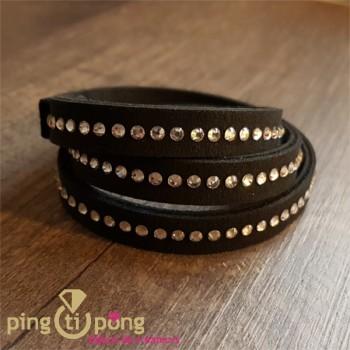 bracelet alcantara noir SPARK