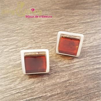 Boucles ambre carré OSTROWSKI