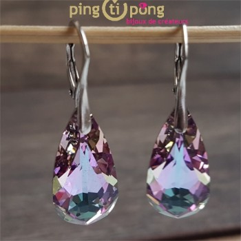 Boucles larmes violettes SPARK