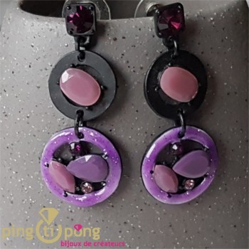 Boucles perles violettes Pure by Noa