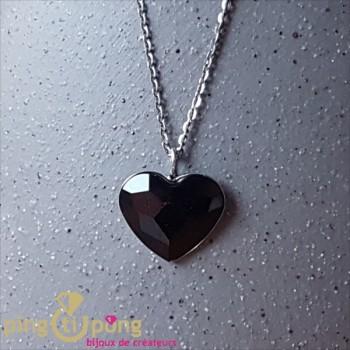 Collier coeur noir SPARK