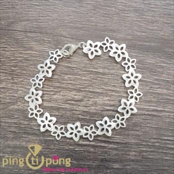 Bracelet fleurs en argent KELIM