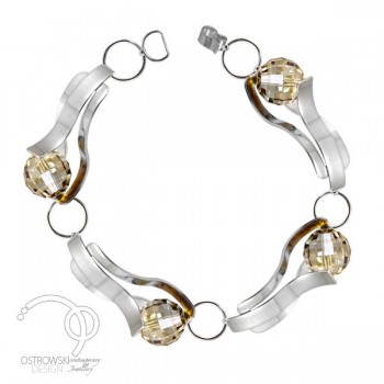 bracelet GLOW en argent et Swarovski de Ostrowski Design
