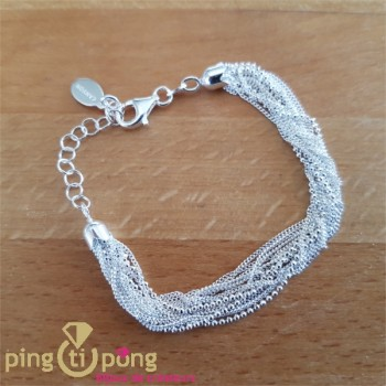 Bracelet multibrins en argent CANYON