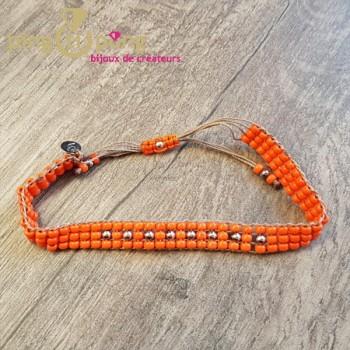 Bracelet togo orange L'avare