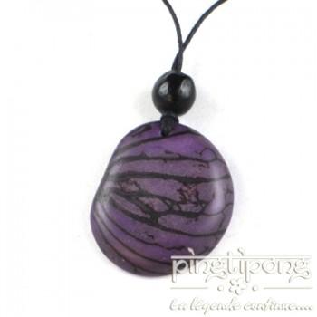 Collier écologique Green-Age original en tagua violet