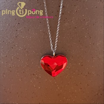 Collier coeur rouge SPARK