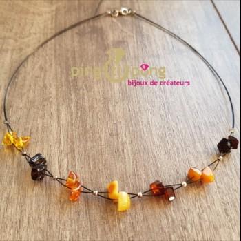Collier d'ambre en perles d'ambre hawaii 4 couleurs  BALTICAMBRE