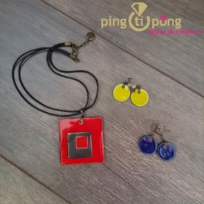 bijoux en céramique émaillée