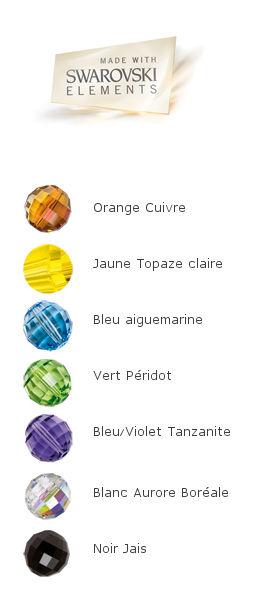gamme de couleurs du cristal de swarovski pour les bijoux Glow de Ostrowski Design