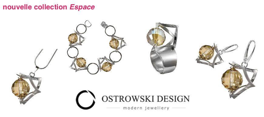 Bijoux originaux en argent et Svarowski Ostrowski Design