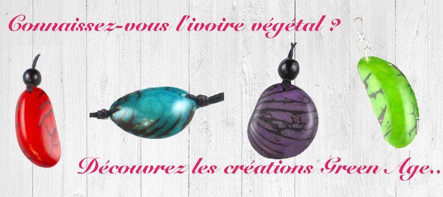Découvrez les bijoux en ivoire végétal, offrez des bijoux