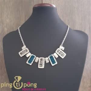 Bijou fantaisie : collier en métal grillagé de Pingtipong